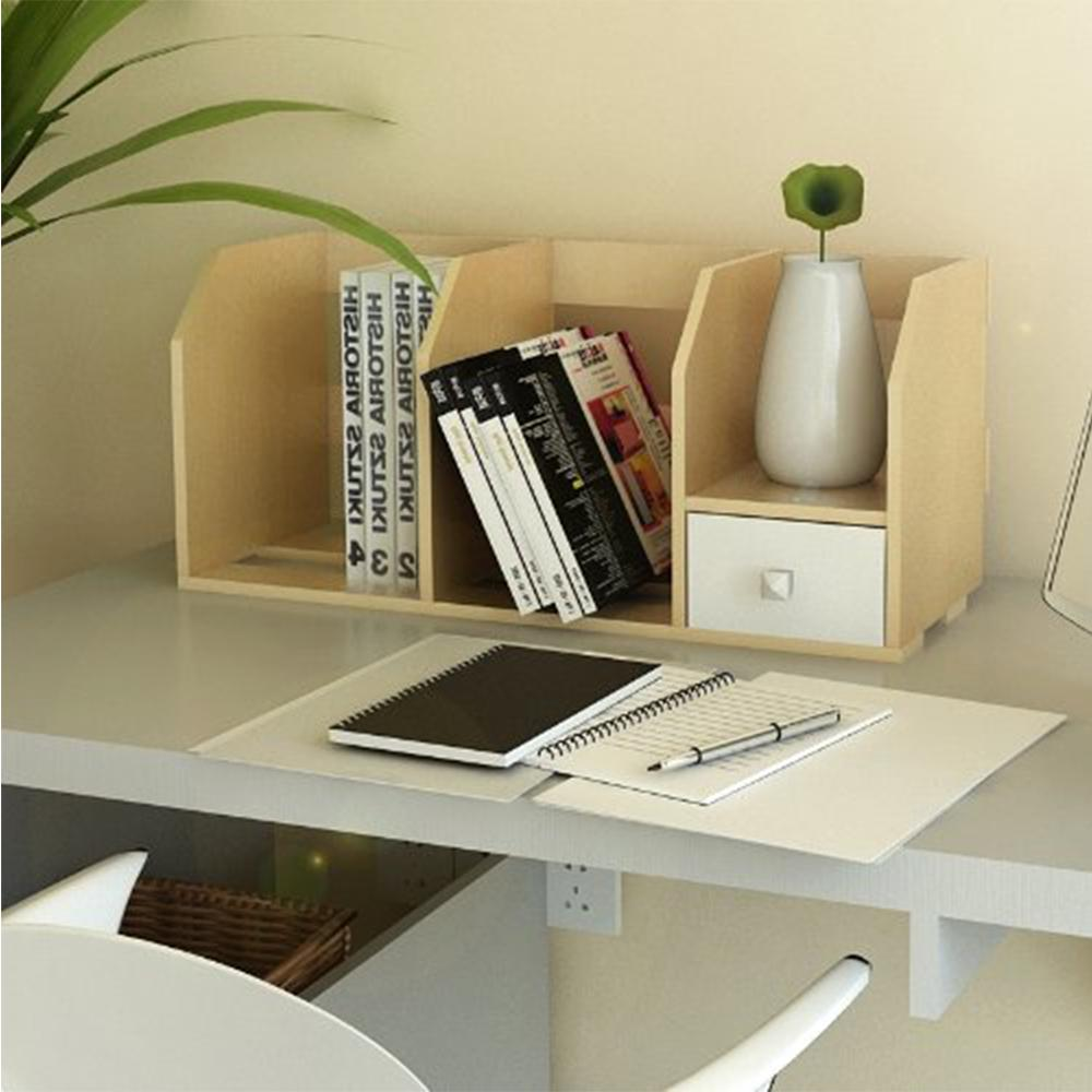 Pasir Steam Beech Desk Storage Hutch with Drawer