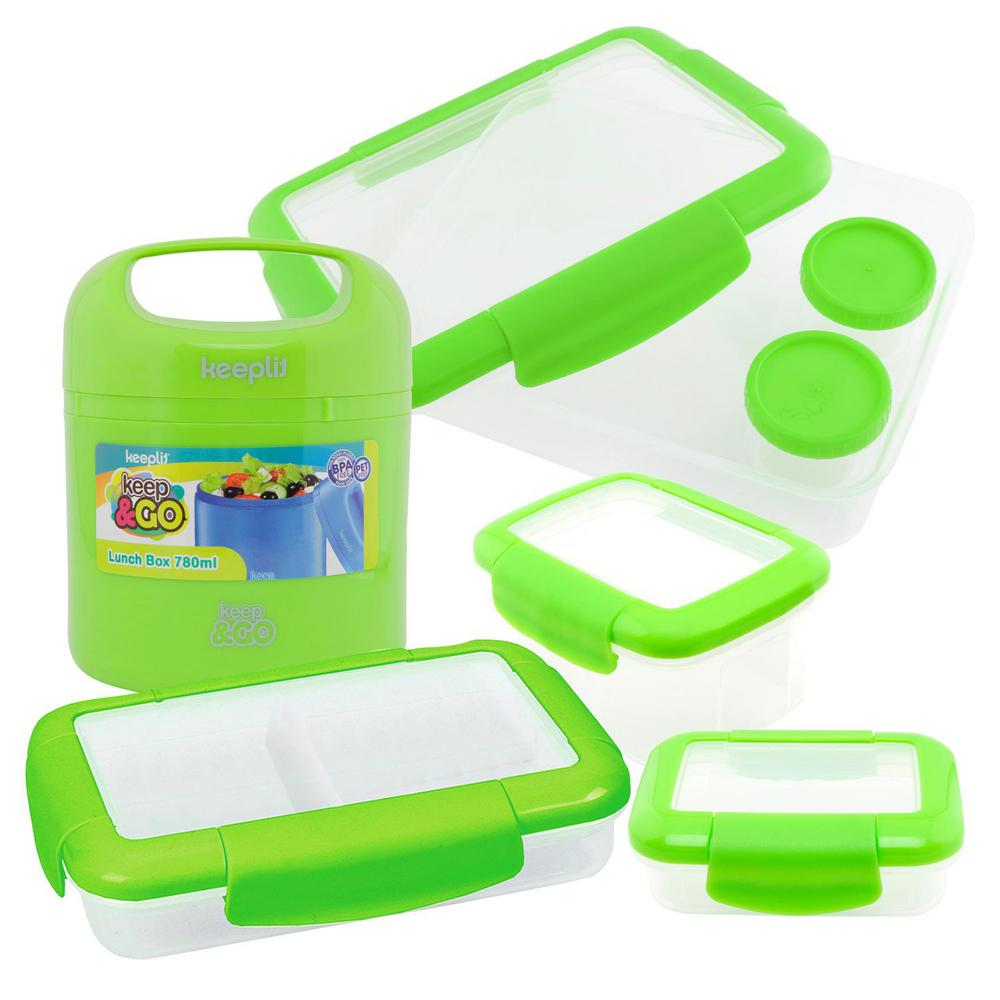 5-Piece Food Storage Container Assorted Pack in Green