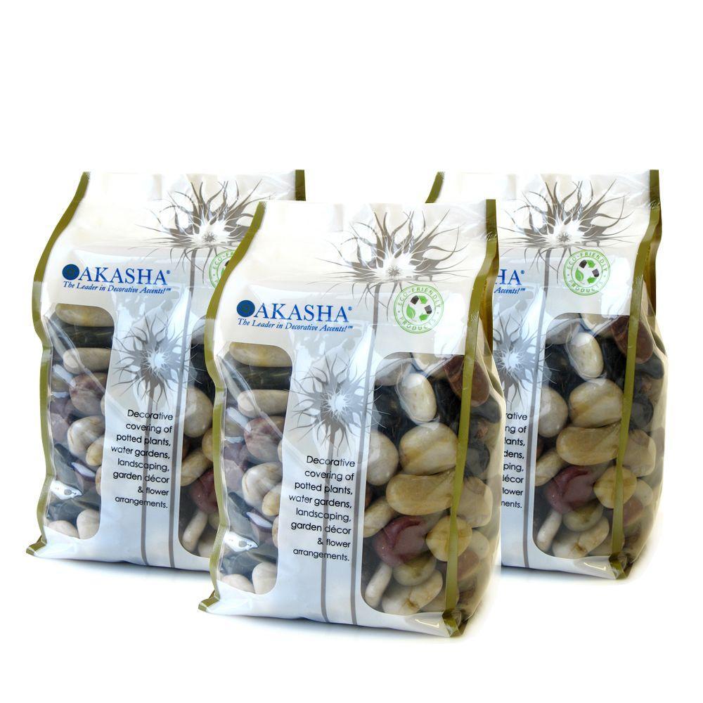 15 lb. Multi Mini River Rocks Box Contains (3) 5 lb. Bags