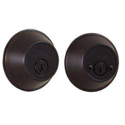 Essentials Double Cylinder Oil-Rubbed Bronze Deadbolt