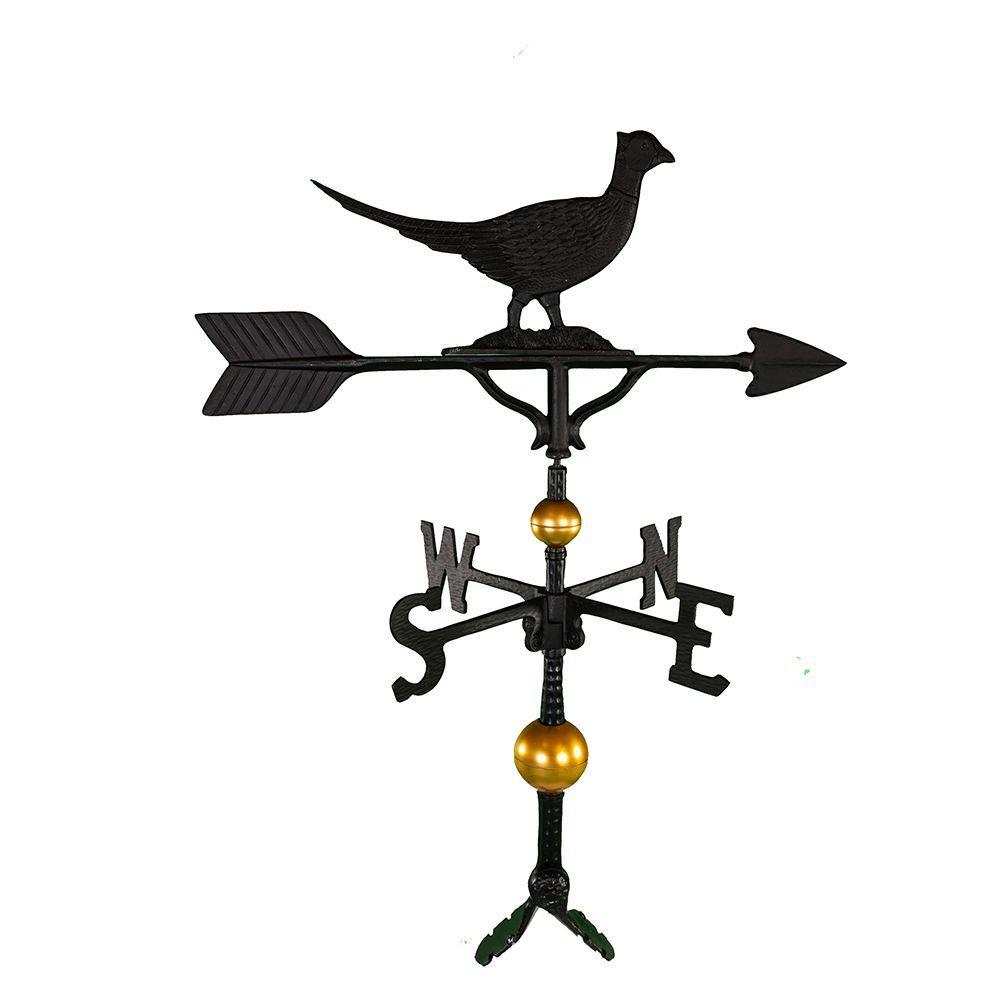 32 in. Deluxe Black Pheasant Weathervane