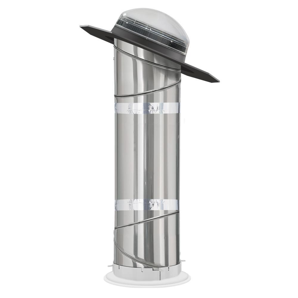 10 in. Sun Tunnel Tubular Skylight with Rigid Tunnel and Low Profile Flashing