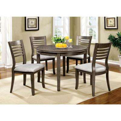 Dwight III 48 in. Gray Transitional Style Round Table