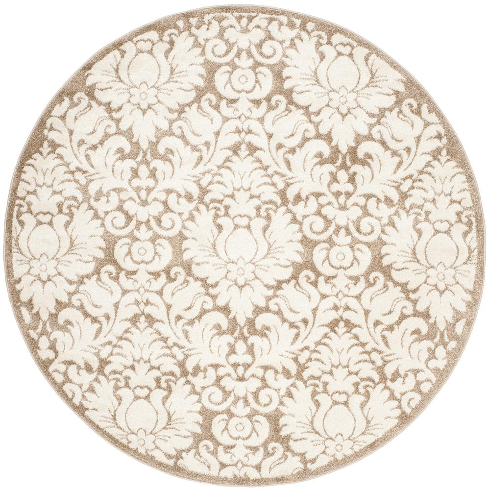 safavieh florida shag cream beige 9 ft x 9 ft round area rug sg455 1113 9r the home depot. Black Bedroom Furniture Sets. Home Design Ideas