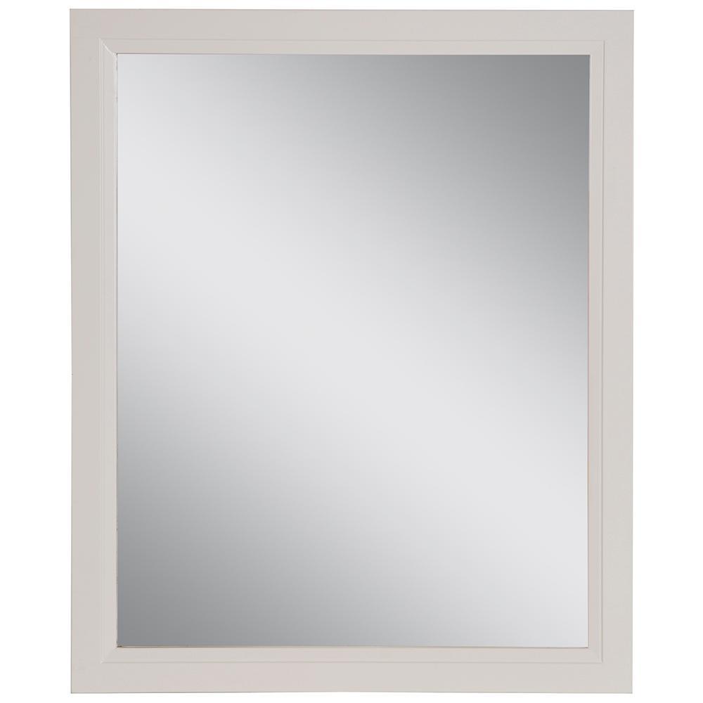Stratfield 25.67 in. W x 31.38 in. H Framed Wall Mirror in Cream