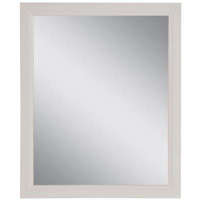 Stratfield 25.67 in. W x 31.38 in. H Framed Wall Mirror in Cream