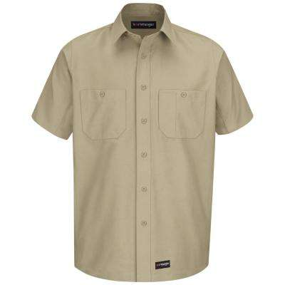 Men's Size 2XL (Tall) Khaki Work Shirt