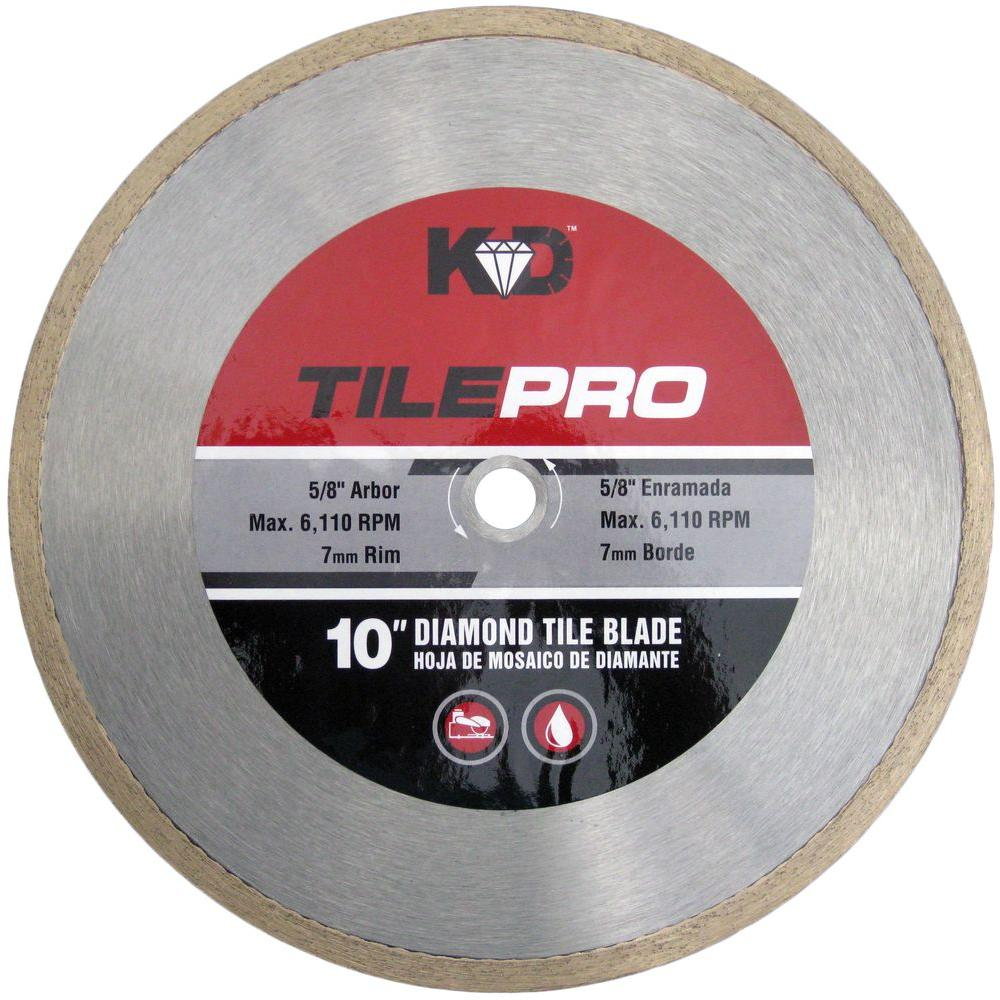 King Diamond 10 In Diamond Tile Circular Saw Blade C10s7 The Home Depot