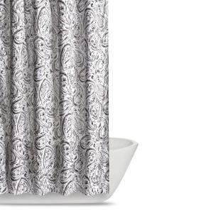 Truly Soft Watercolor Paisley 72 inch Grey Shower Curtain by Truly Soft