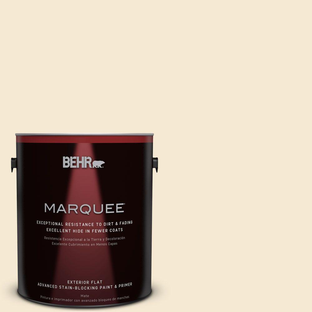 BEHR MARQUEE 1-gal. #YL-W7 Smooth Silk Flat Exterior Paint