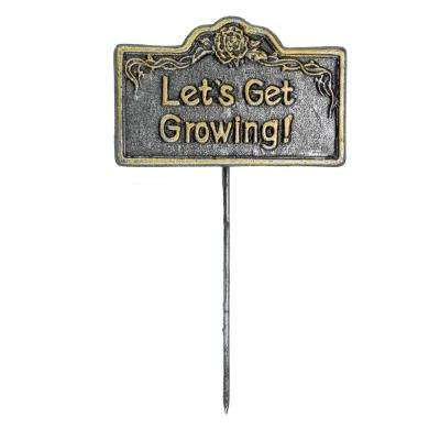 Garden Marker Let's Get Growing Sign