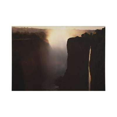 "40 in. x 28 in. ""Twilight Peaks"" Printed Wall Art"