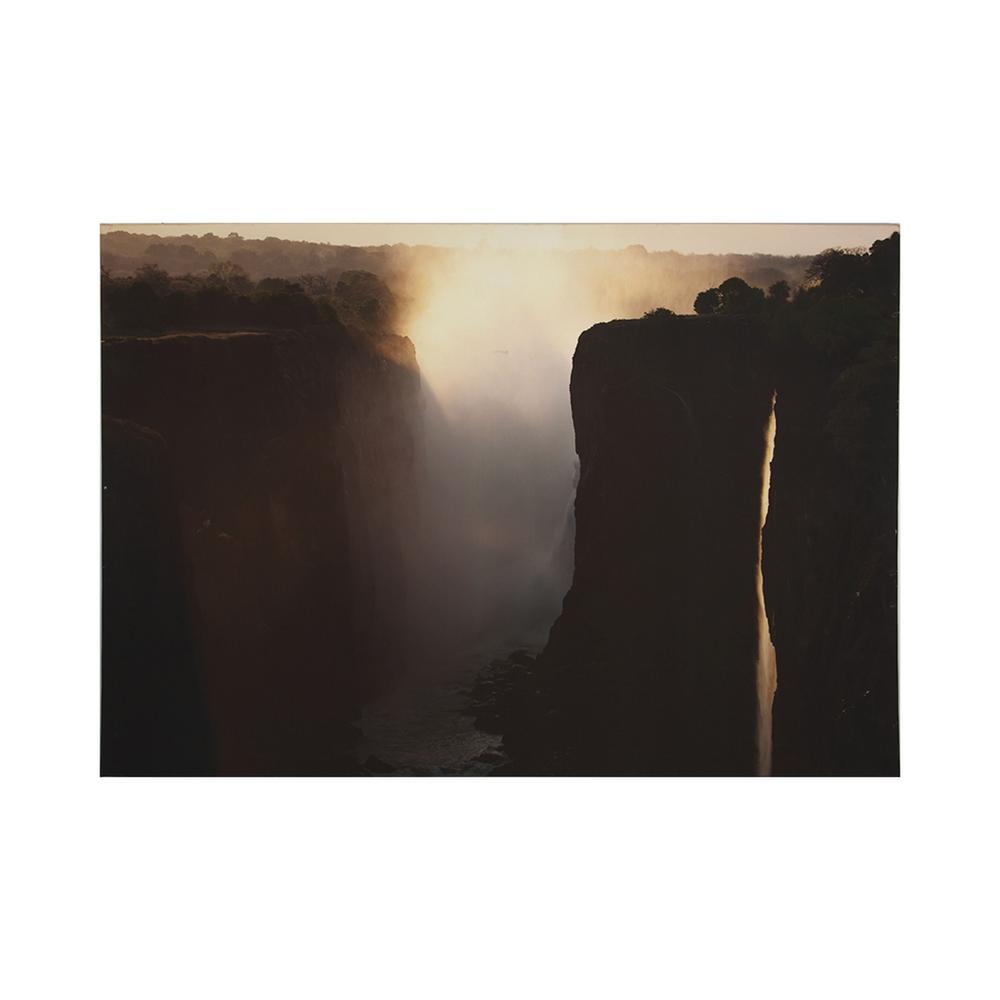 """40 in. x 28 in. """"Twilight Peaks"""" Printed Wall Art"""