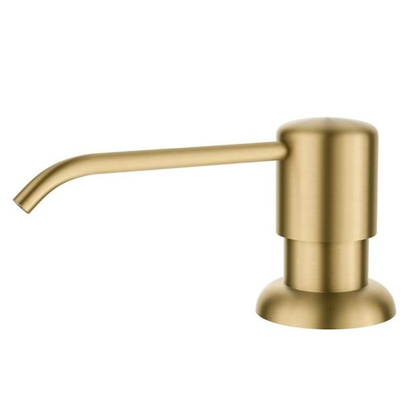 Boden Kitchen Soap and Lotion Dispenser in Brushed Brass