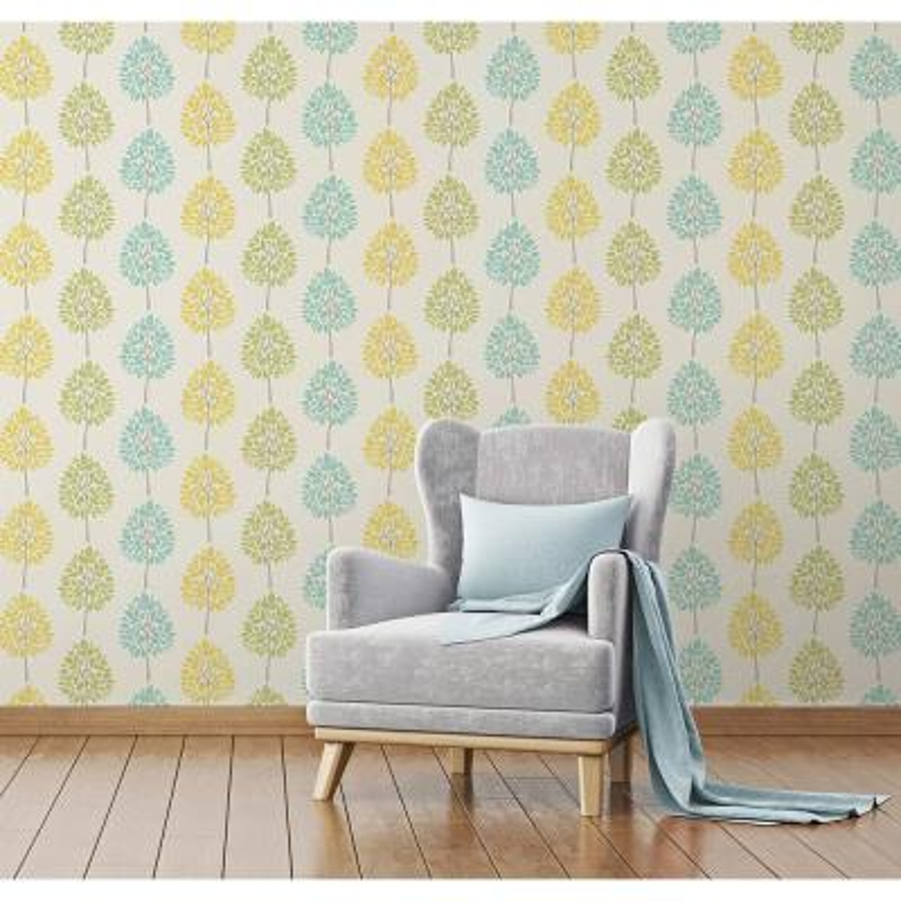 56.4 sq. ft. Alder Cream Tree Wallpaper