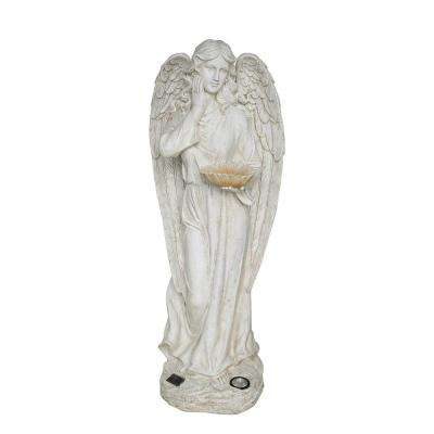 49-1/2 in. Angel with Sunflower Solar Powered LED Statue