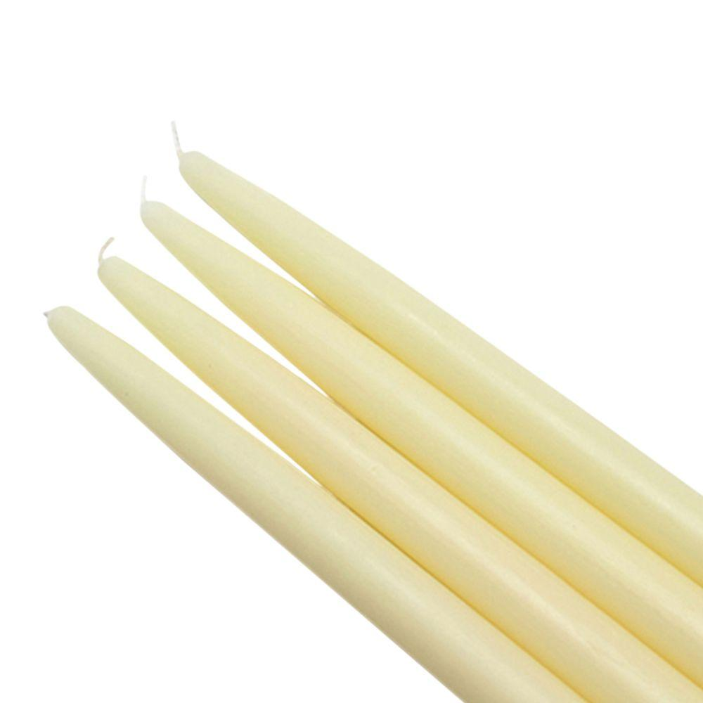 Zest Candle 10 in. Ivory Taper Candles (12-Set)