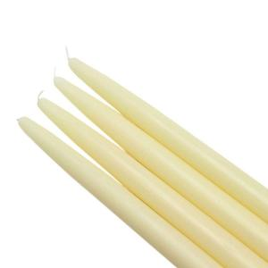 Zest Candle 10 inch Ivory Taper Candles (12-Set) by Zest Candle