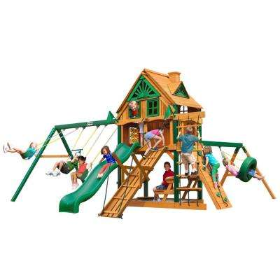 Frontier Treehouse with Fort Add-On and Timber Shield Cedar Swing Set