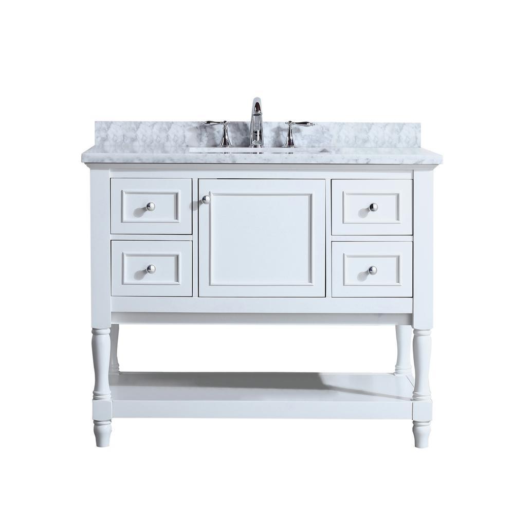 38 46 In Single Sink Cottage Bathroom Vanities Bath The Home Depot