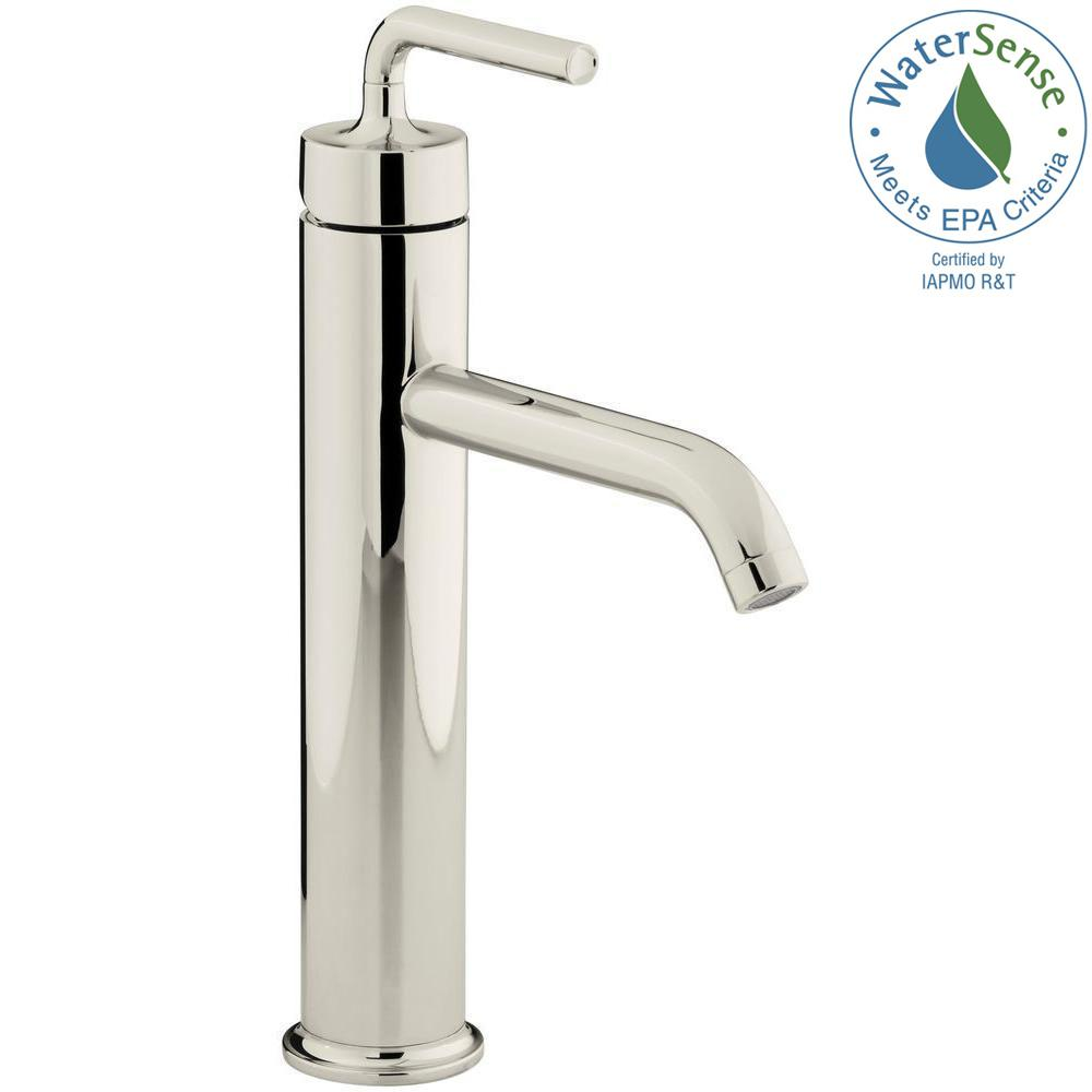 Purist Single Hole Single-Handle Vessel Bathroom Faucet in Vibrant Polished
