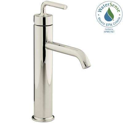 Purist Single Hole Single-Handle Vessel Bathroom Faucet in Vibrant Polished Nickel
