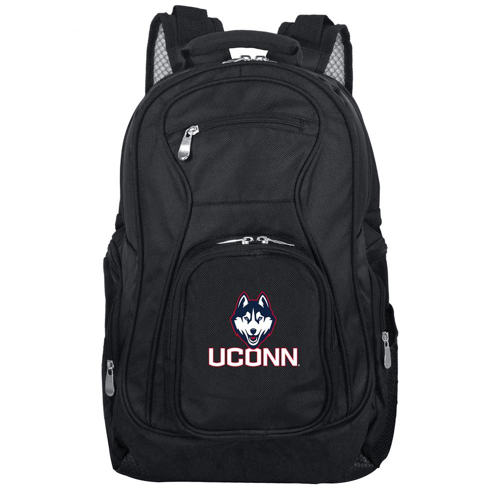 NCAA Connecticut Black Backpack Laptop