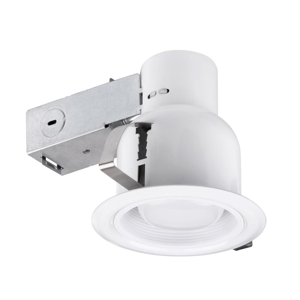 Globe Electric 4 In White Indoor Outdoor Recessed Lighting Kit