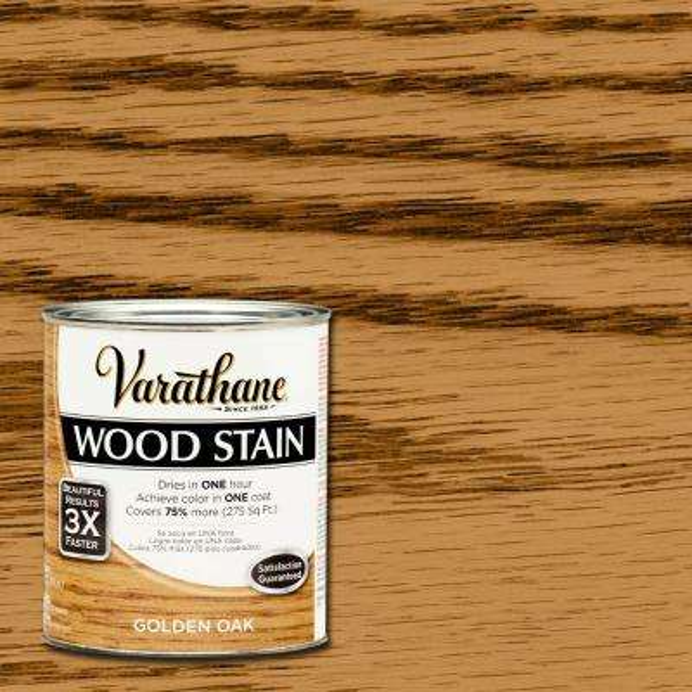 1 qt. 3X Golden Oak Premium Wood Interior Stain (Case of 2)