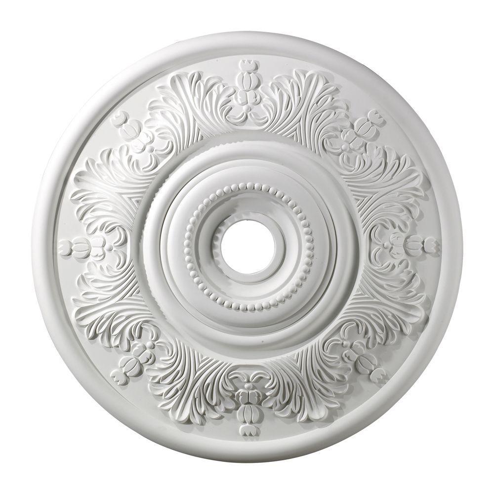 Titan Lighting Laureldale 30 in. White Ceiling Medallion