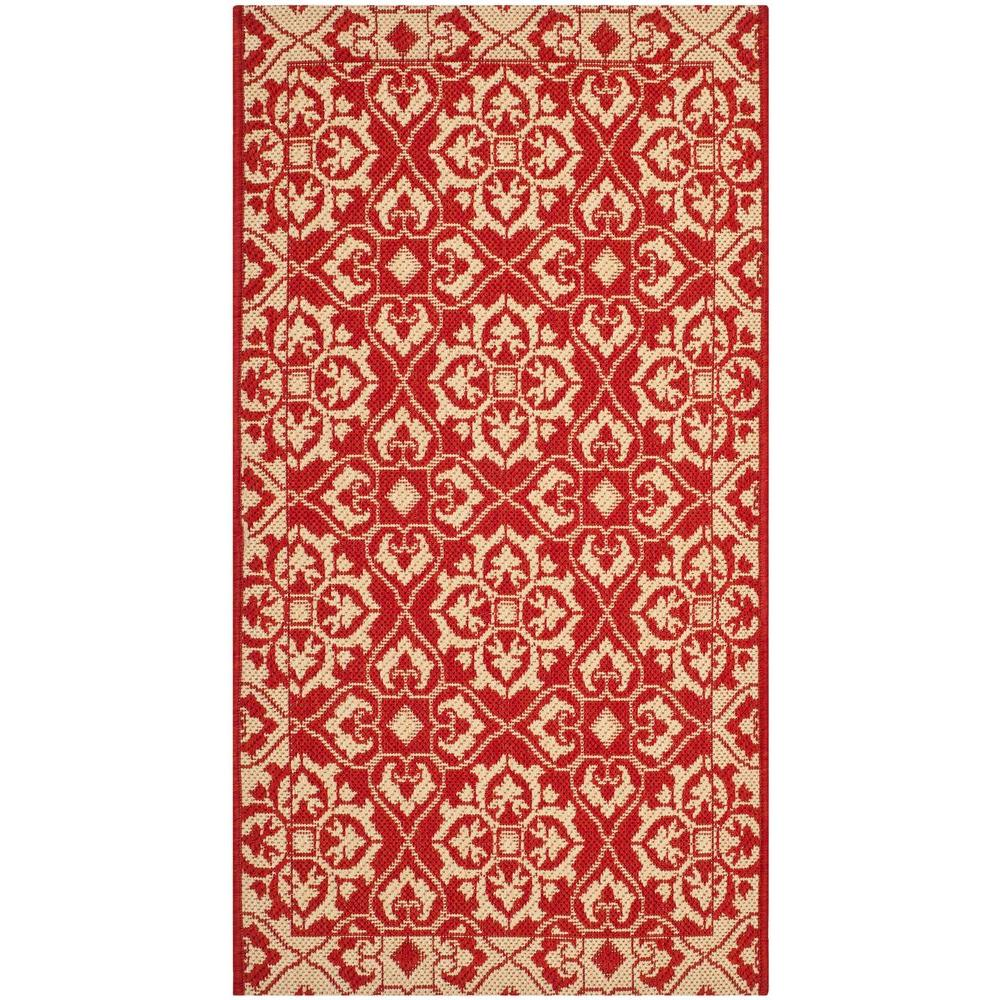 Courtyard Red/Cream 2 ft. x 3 ft. 7 in. Indoor/Outdoor Area