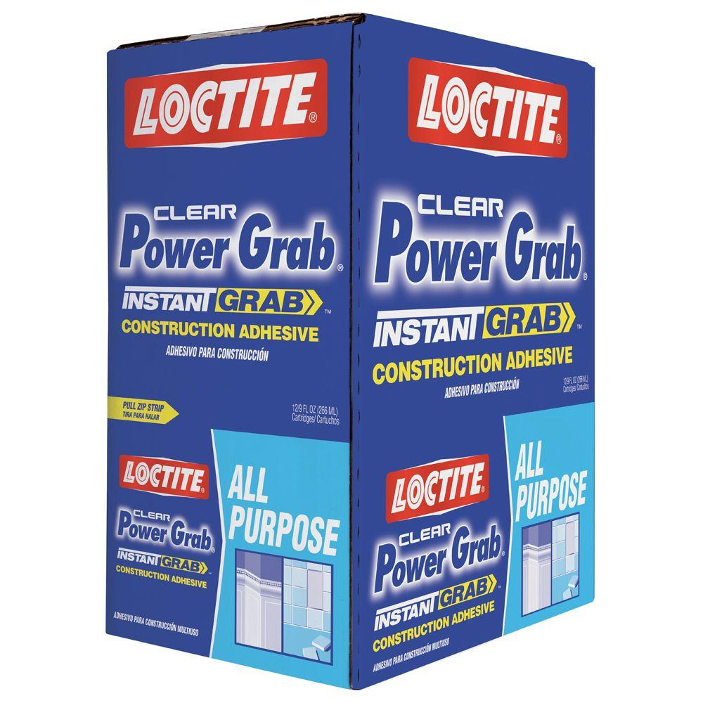 Loctite 9 fl. oz. Clear Power Grab All Purpose Construction Adhesive (12-Pack)