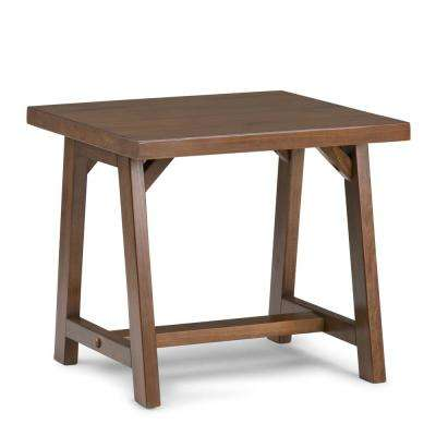 Sawhorse Medium Saddle Brown End Table