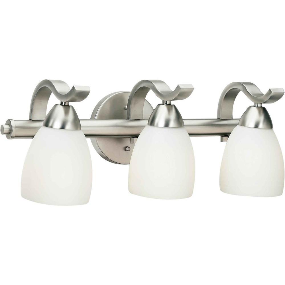 Lucy Burton 3-Light Brushed Nickel Bath Vanity Light