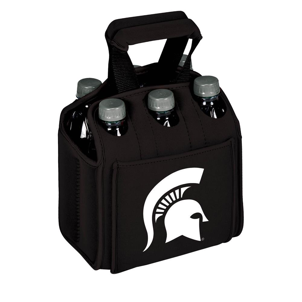 Michigan State University Spartans 6-Bottles Black Beverage Carrier