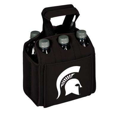 Michigan State University Spartans 6-Bottles Black Beverage Carrier