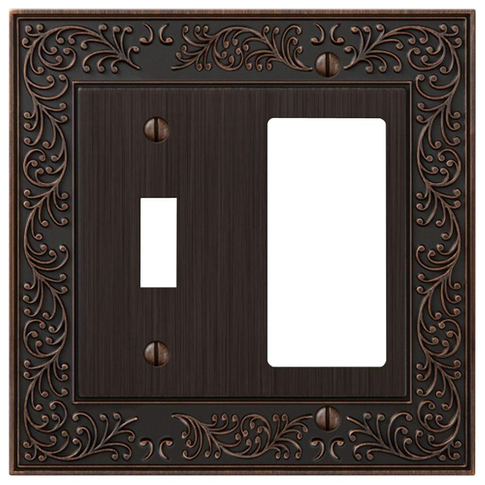 English Garden 1 Toggle and 1 Decora Wall Plate - Aged