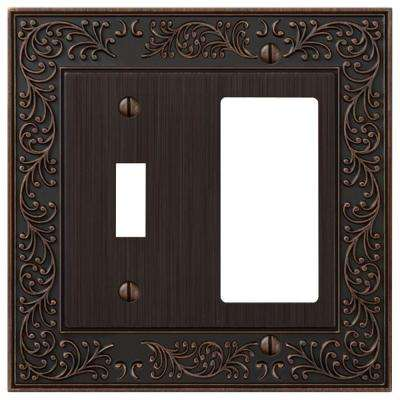 English Garden 1 Toggle and 1 Decora Wall Plate - Aged Bronze