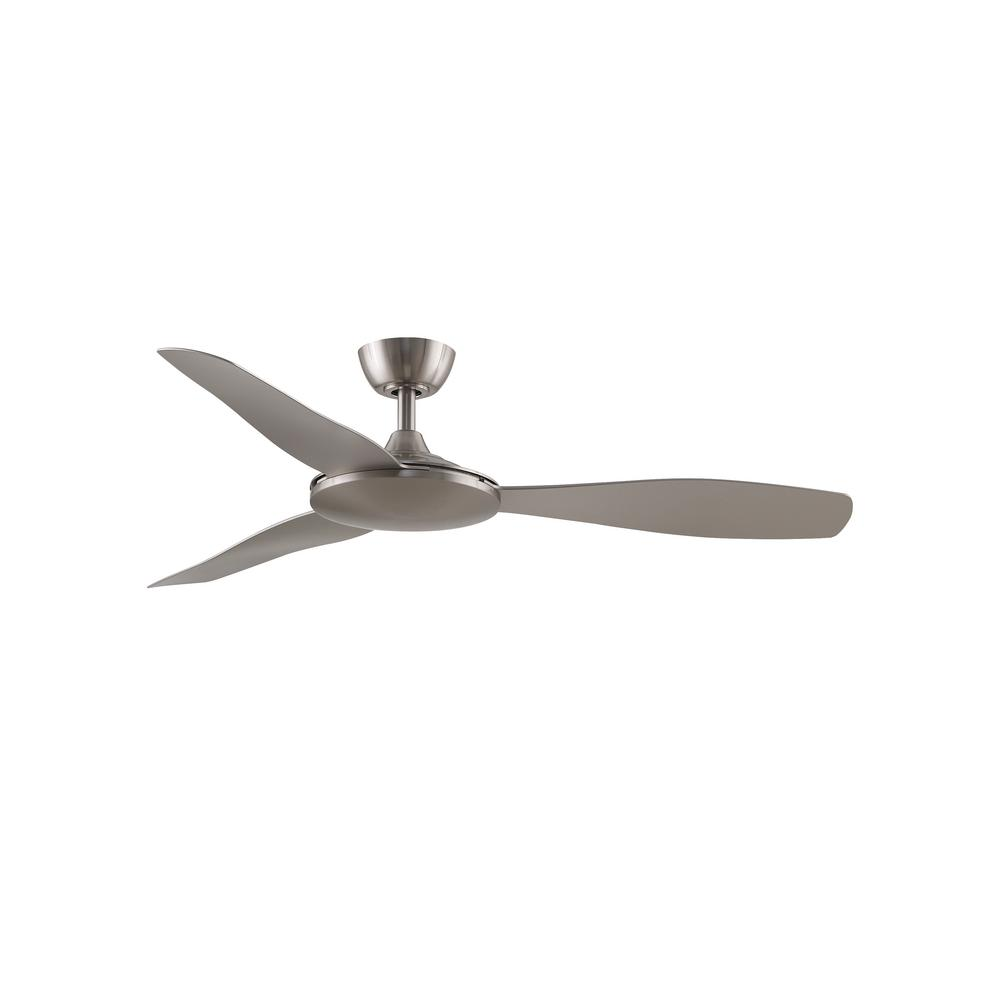 GlideAire 52 in. Indoor/Outdoor Brushed Nickel with Brushed Nickel Blades Ceiling Fan with Remote Control