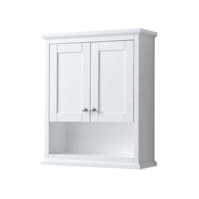 Avery 25 in. W Bathroom Storage Wall Cabinet in White