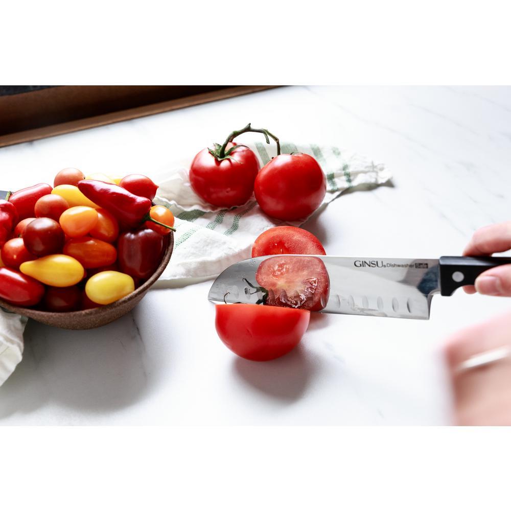 Ginsu Kiso 18 Piece Dishwasher Safe Natural Block Knife Set Kis Kb Ds 018 2 The Home Depot
