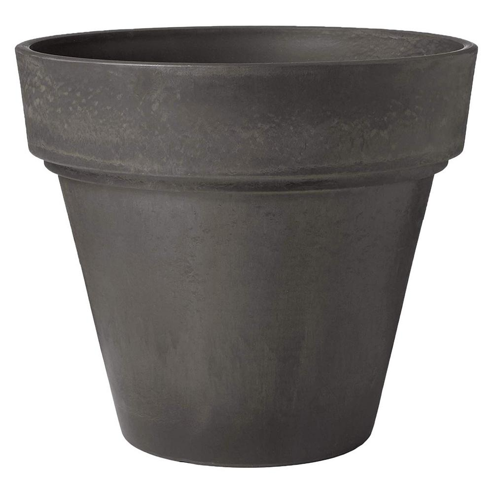Arcadia Garden Products Traditional 14 in. x 13 in. Dark Charcoal PSW Pot