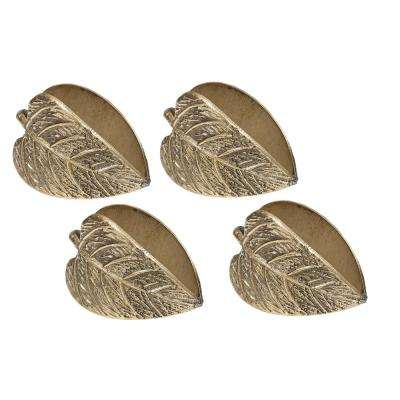 Gold Leaf Napkin Ring (Set of 4)