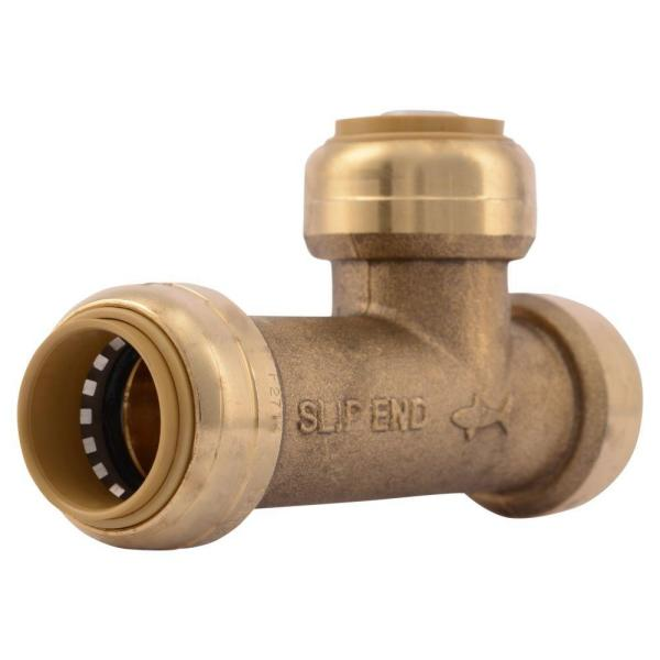 3/4 in. Push-to-Connect Brass Slip Tee Fitting