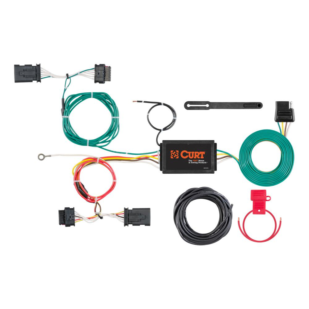 Stupendous Curt Custom Wiring Harness 4 Way Flat Output 56308 The Home Depot Wiring Digital Resources Funapmognl