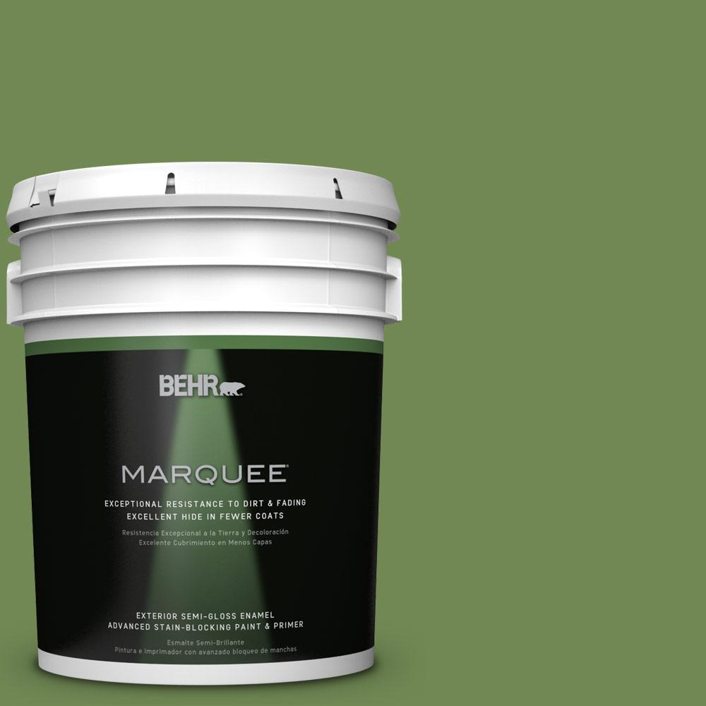 5-gal. #M370-6 Snip of Parsley Semi-Gloss Enamel Exterior Paint