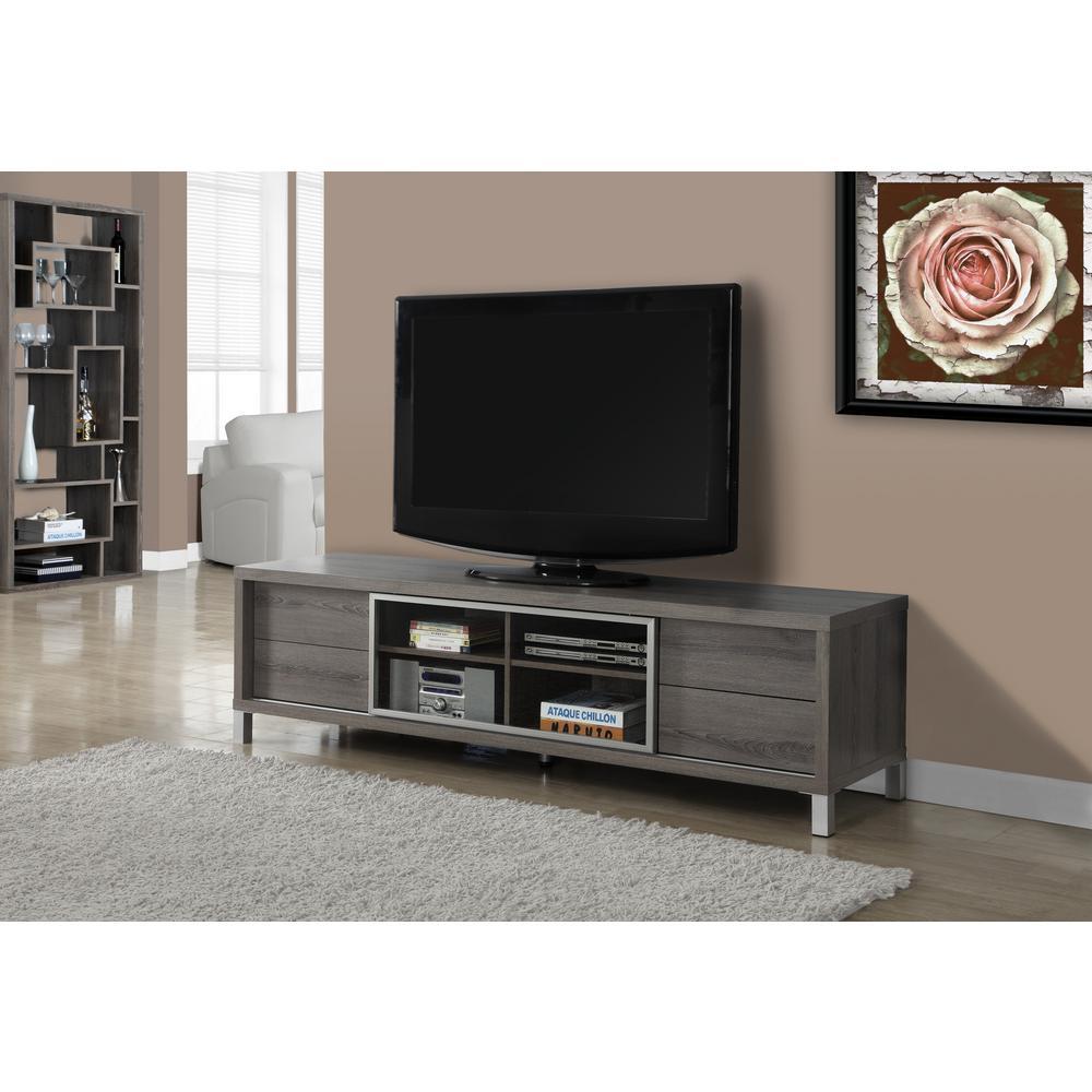 Monarch Specialties - Gray - TV Stands - Living Room Furniture ...