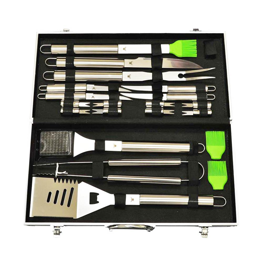20 Pieces Quality Stainless Steel BBQ Tools Set