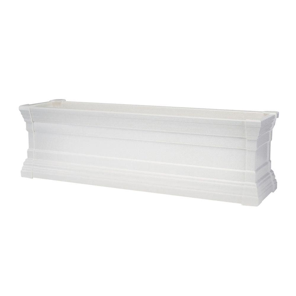 Home Decorators Collection 60 in. White Windsor Flower Box
