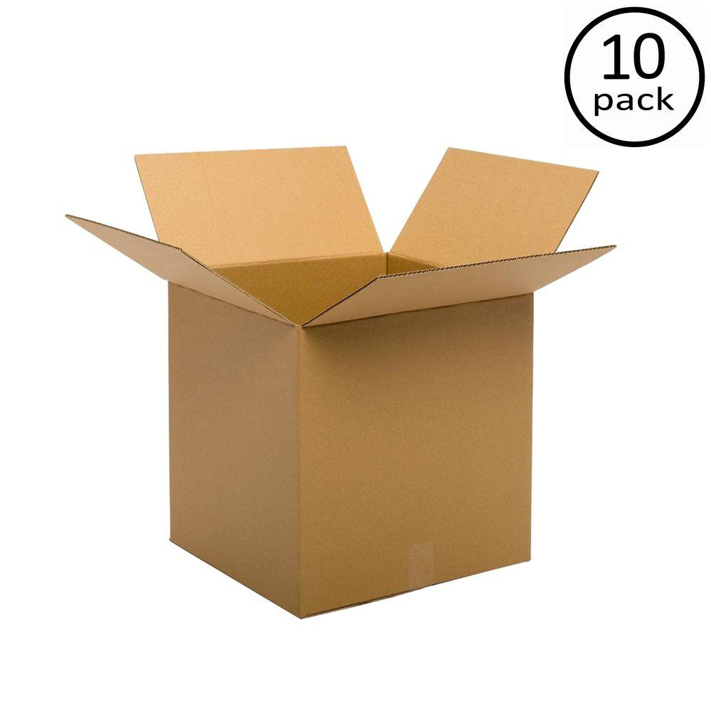 Plain Brown Box 24 in. x 24 in. x 24 in. 48 ECT Double Wall 10-Box Bundle
